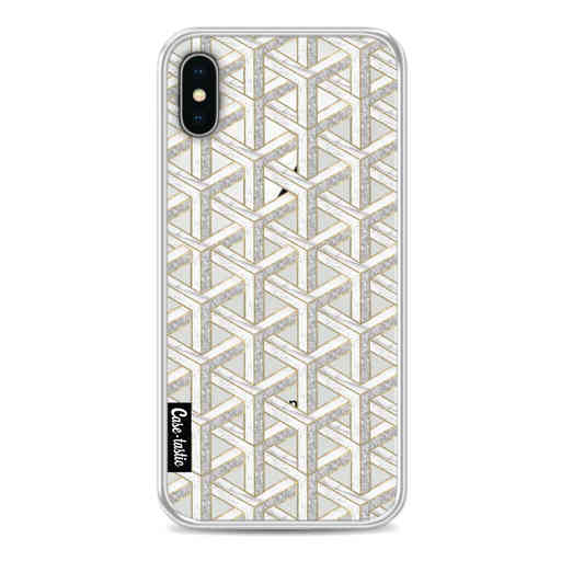 Casetastic Softcover Apple iPhone X / XS - Abstract Marble Transparent