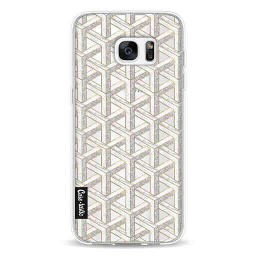 Casetastic Softcover Samsung Galaxy S7 Edge - Abstract Marble Transparent