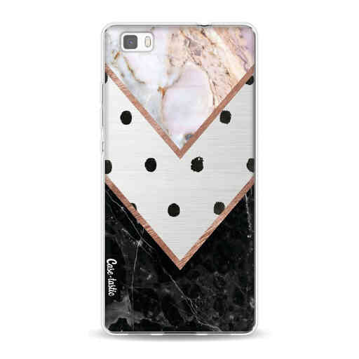 Casetastic Softcover Huawei P8 Lite (2015) - Mix of Marbles