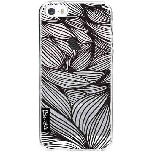 Casetastic Softcover Apple iPhone 5 / 5s / SE - Wavy Outlines Black