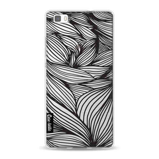 Casetastic Softcover Huawei P8 Lite (2015) - Wavy Outlines Black