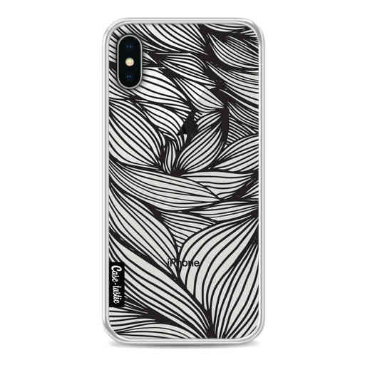 Casetastic Softcover Apple iPhone X / XS - Wavy Outlines Black