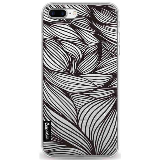 Casetastic Softcover Apple iPhone 7 Plus / 8 Plus - Wavy Outlines Black