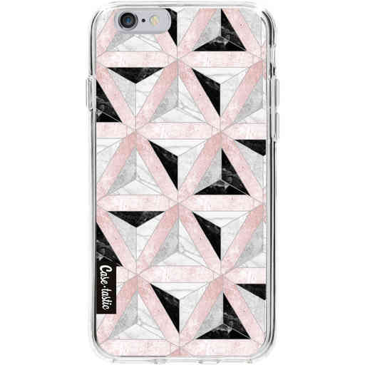 Casetastic Softcover Apple iPhone 6 / 6s - Marble Triangle Blocks Pink