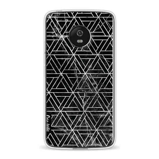 Casetastic Softcover Motorola Moto G5 - Abstract Marble Triangles