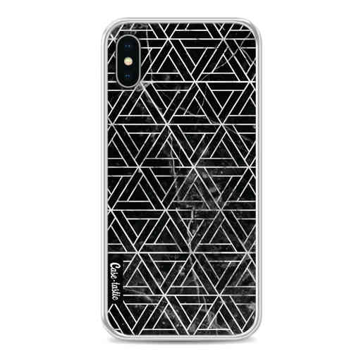 Casetastic Softcover Apple iPhone X / XS - Abstract Marble Triangles
