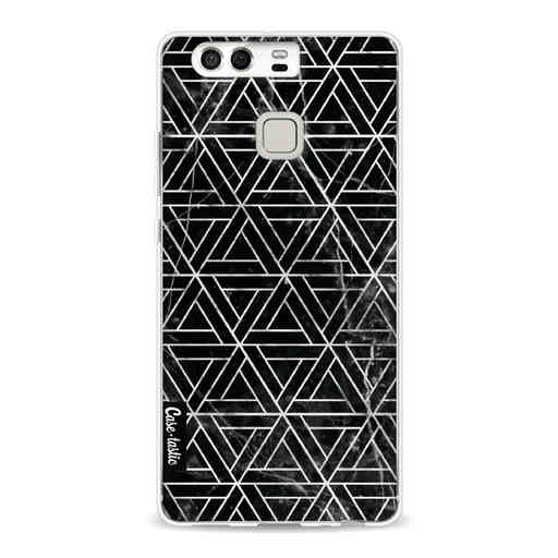 Casetastic Softcover Huawei P9 - Abstract Marble Triangles