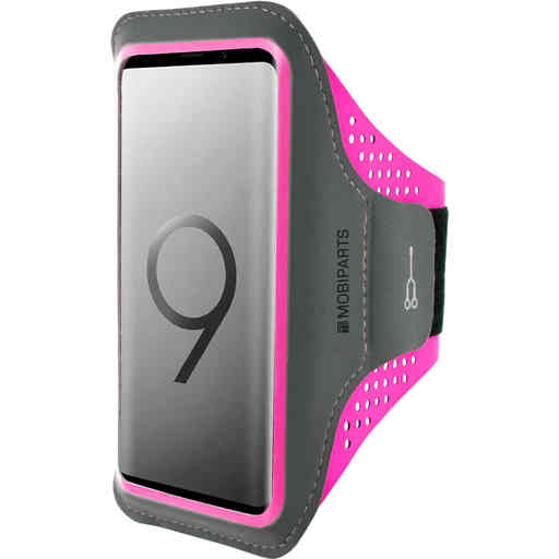 Casetastic Comfort Fit Sport Armband Samsung Galaxy S9 Neon Pink