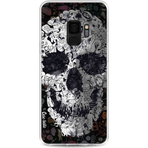 Casetastic Softcover Samsung Galaxy S9 - Doodle Skull BW
