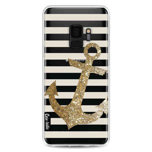 Casetastic Softcover Samsung Galaxy S9 - Glitter Anchor Gold