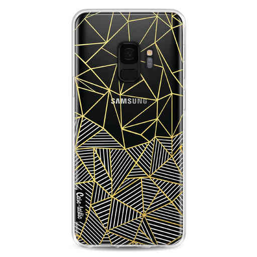 Casetastic Softcover Samsung Galaxy S9 - Abstraction Half Half Transparent