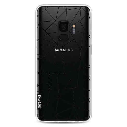 Casetastic Softcover Samsung Galaxy S9 - Abstraction Outline Black Transparent