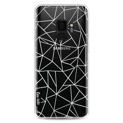 Casetastic Softcover Samsung Galaxy S9 - Abstraction Outline White Transparent