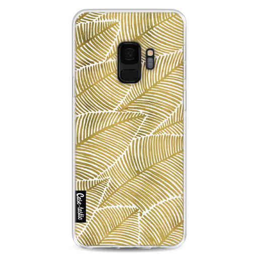 Casetastic Softcover Samsung Galaxy S9 - Tropical Leaves Gold