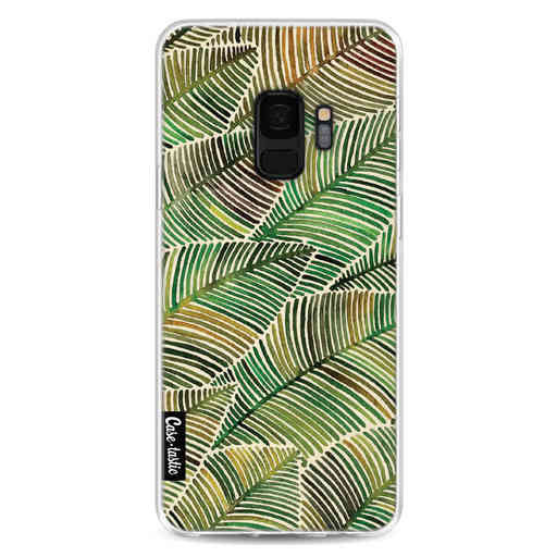 Casetastic Softcover Samsung Galaxy S9 - Tropical Leaves Yellow