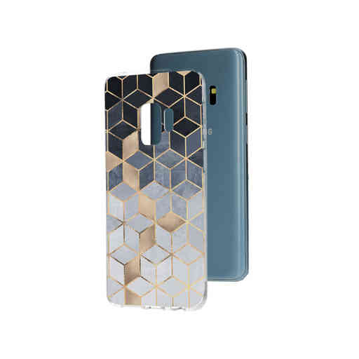 Casetastic Softcover Samsung Galaxy S9 - Soft Blue Gradient Cubes