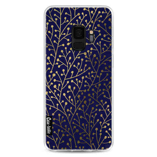 Casetastic Softcover Samsung Galaxy S9 - Berry Branches Navy Gold