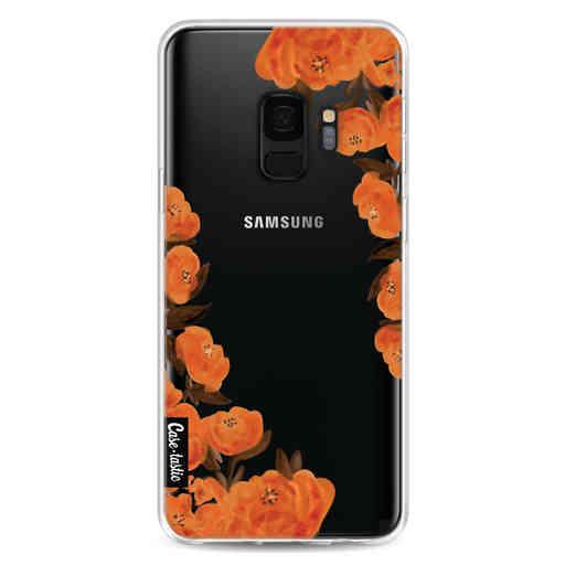 Casetastic Softcover Samsung Galaxy S9 - Orange Autumn Flowers