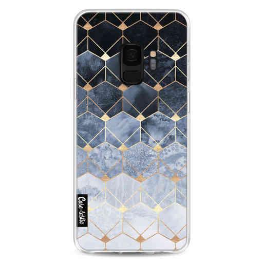 Casetastic Softcover Samsung Galaxy S9 - Blue Hexagon Diamonds