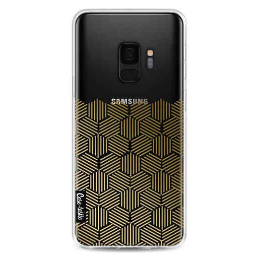 Casetastic Softcover Samsung Galaxy S9 - Golden Hexagons