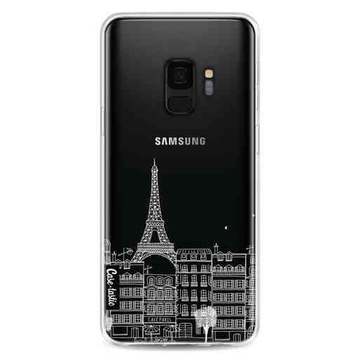 Casetastic Softcover Samsung Galaxy S9 - Paris City houses White