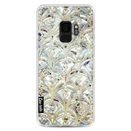 Casetastic Softcover Samsung Galaxy S9 - Mint Art Deco Marbling