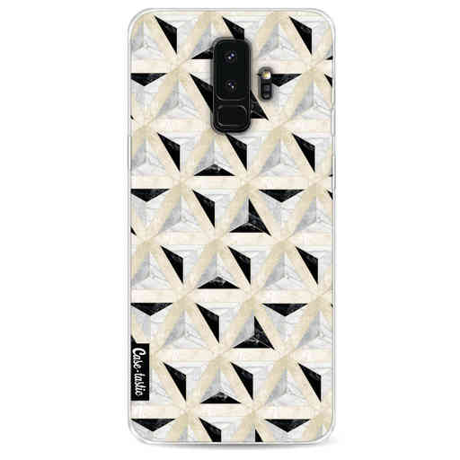 Casetastic Softcover Samsung Galaxy S9 Plus - Marble Triangle Blocks