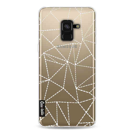 Casetastic Softcover Samsung Galaxy A8 (2018) - Abstract Dotted Lines Transparent