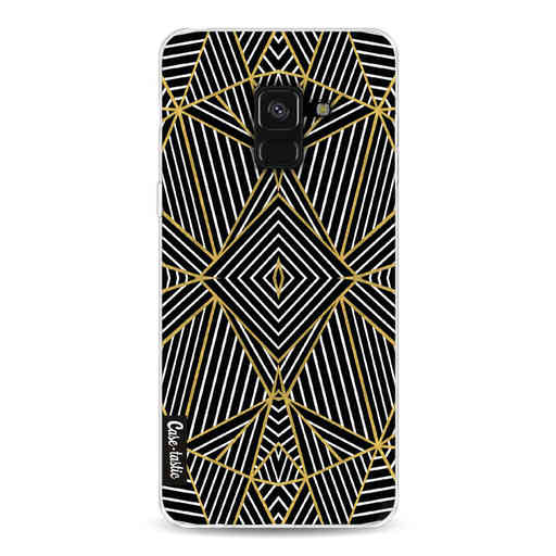 Casetastic Softcover Samsung Galaxy A8 (2018) - Abstraction Half Gold