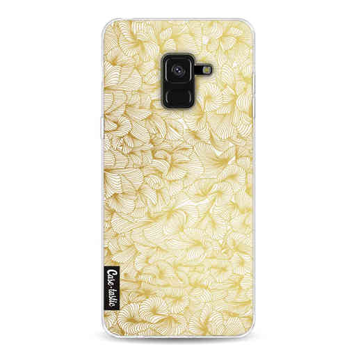 Casetastic Softcover Samsung Galaxy A8 (2018) - Abstract Pattern Gold
