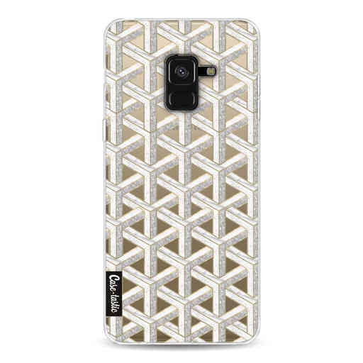 Casetastic Softcover Samsung Galaxy A8 (2018) - Abstract Marble Transparent