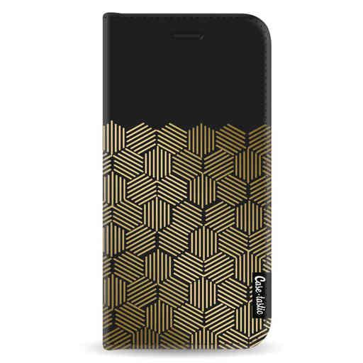 online store b6923 2a66f Casetastic Wallet Case Black Samsung Galaxy A8 (2018) - Golden Hexagons