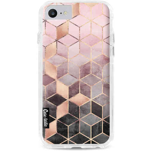 Casetastic Dual Snap Case Apple iPhone 7 / 8 - Soft Pink Gradient Cubes