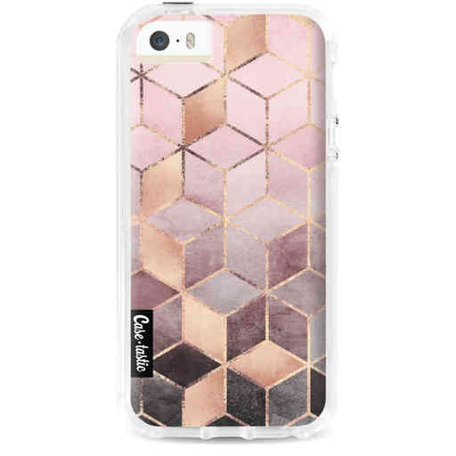 Casetastic Dual Snap Case Apple iPhone 5 / 5s / SE - Soft Pink Gradient Cubes