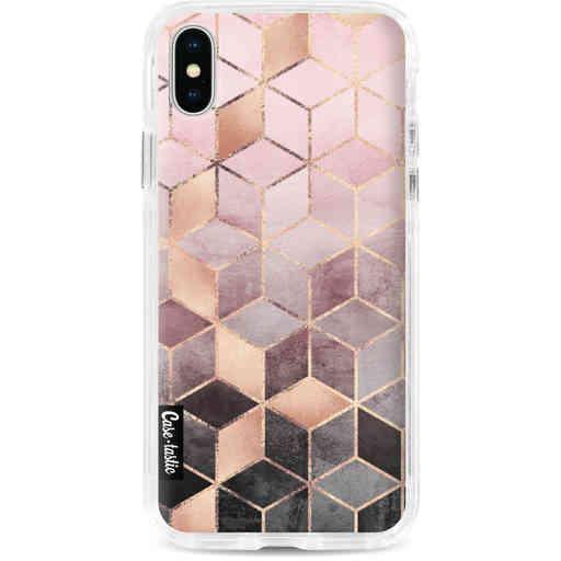 Casetastic Dual Snap Case Apple iPhone X / XS - Soft Pink Gradient Cubes