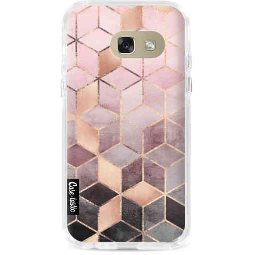 Casetastic Dual Snap Case Samsung Galaxy A3 (2017) - Soft Pink Gradient Cubes