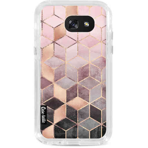 Casetastic Dual Snap Case Samsung Galaxy A5 (2017) - Soft Pink Gradient Cubes