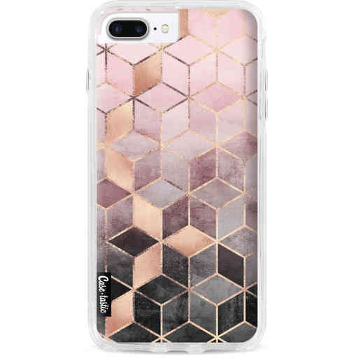Casetastic Dual Snap Case Apple iPhone 7 Plus / 8 Plus - Soft Pink Gradient Cubes