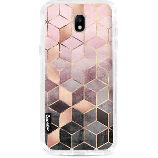 Casetastic Dual Snap Case Samsung Galaxy J7 (2017) - Soft Pink Gradient Cubes
