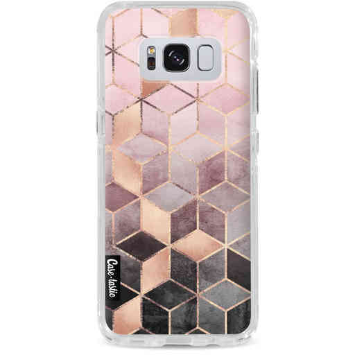 Casetastic Dual Snap Case Samsung Galaxy S8 - Soft Pink Gradient Cubes
