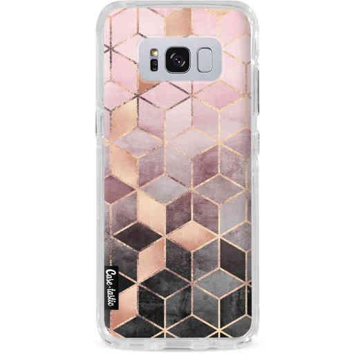 Casetastic Dual Snap Case Samsung Galaxy S8 Plus - Soft Pink Gradient Cubes