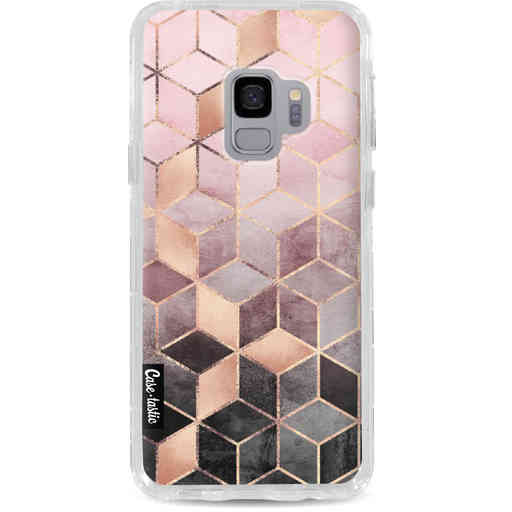 Casetastic Dual Snap Case Samsung Galaxy S9 - Soft Pink Gradient Cubes