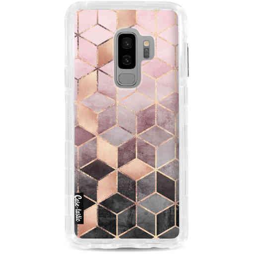 Casetastic Dual Snap Case Samsung Galaxy S9 Plus - Soft Pink Gradient Cubes
