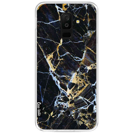 Casetastic Softcover Samsung Galaxy A6 Plus (2018) - Black Gold Marble