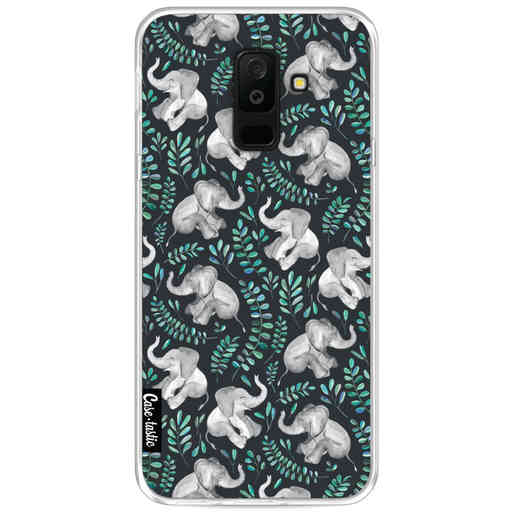 Casetastic Softcover Samsung Galaxy A6 Plus (2018) - Laughing Baby Elephants