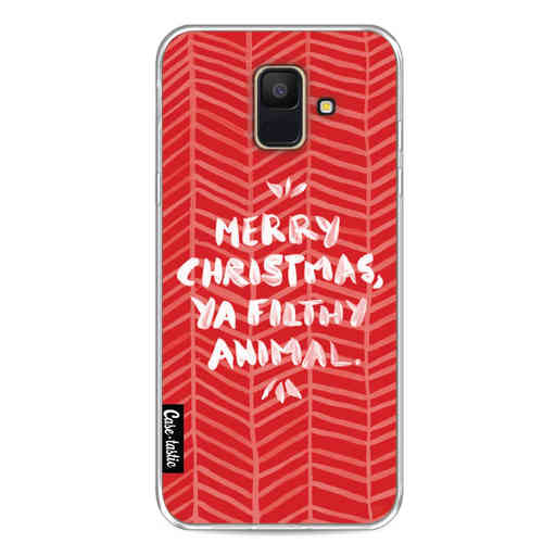Casetastic Softcover Samsung Galaxy A6 (2018) - Filthy Animal Red