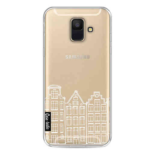 Casetastic Softcover Samsung Galaxy A6 (2018) - Amsterdam Canal Houses White