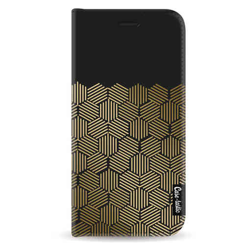 Casetastic Wallet Case Black Samsung Galaxy A6 (2018) - Golden Hexagons