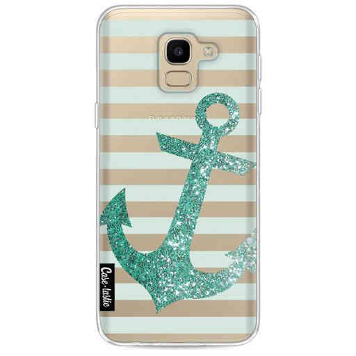 Casetastic Softcover Samsung Galaxy J6 (2018) - Glitter Anchor Mint