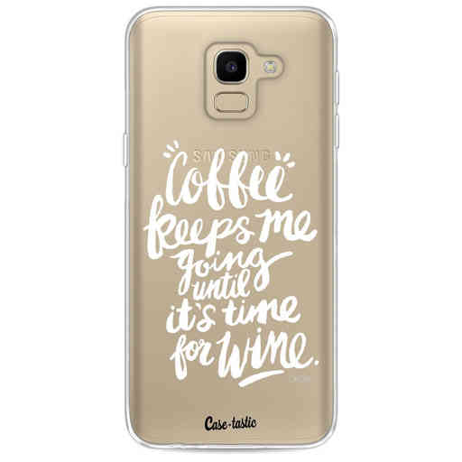 Casetastic Softcover Samsung Galaxy J6 (2018) - Coffee Wine White Transparent